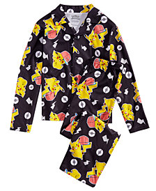 AME 2-Pc. Big Boys Pokémon Pajama Set