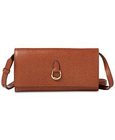 Lauren Ralph Lauren Bennington Crossbody Leather Wallet