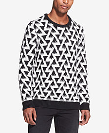 DKNY Men's Triangle Stitch Sweater
