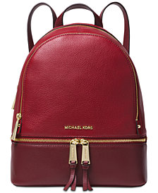 MICHAEL Michael Kors Rhea Colorblock Pebble Leather Backpack