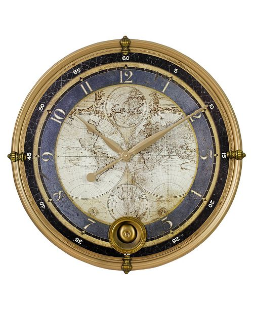 Aspire Home Accents Ramona Old Map Wall Clock