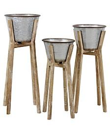 Hayes Modern Rustic Planters Set of 3