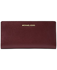 MICHAEL Michael Kors 2-in-1 Crossgrain Leather Card Case Wallet