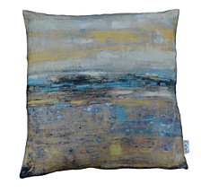 Skyline Velvet Feather Cushion
