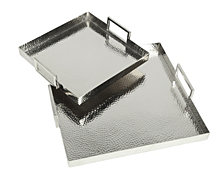 Hammered Square Trays Set Of 2