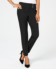 Alfani Wide-Waistband Skinny Pants, Created for Macy's
