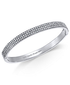 kate spade new york Silver-Tone Pavé Bangle Bracelet