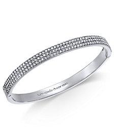 kate spade new york Silver-Tone Pavé Bangle Bracelet