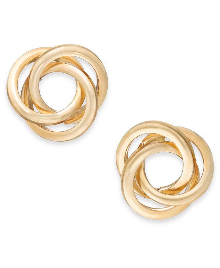 Macy's - Love Knot Stud Earrings in 14k Gold