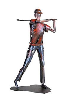 Golfer Statue