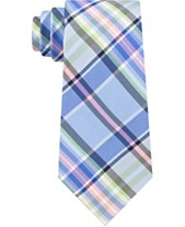 6629da3b8684 Tommy Hilfiger Men's Plaid Silk Tie