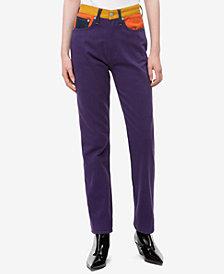 Calvin Klein Jeans Cotton Patched Straight-Leg Jeans
