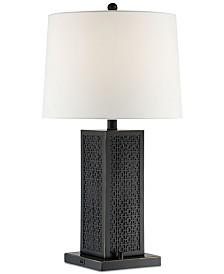 Lite Source Kenbridge Square Bluetooth Speaker Table Lamp