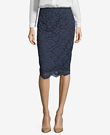 ECI Lace Pencil Skirt