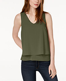 Bar III Layered-Look Tank Top, Created for Macy's