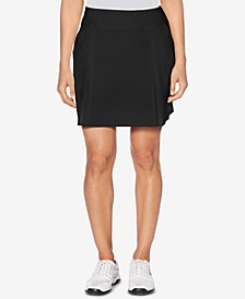 Performance Pleated Woven-Stretch Golf Skort