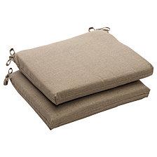 Monti Chino Squared Corners Seat Cushion, Set of 2