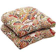 Zoe Citrus Wicker Seat Cushion, Set of 2