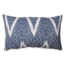 Bali Navy Rectangular Throw Pillow