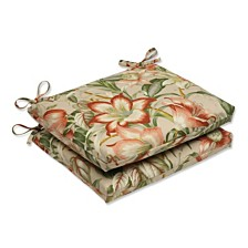 Botanical Glow Tiger Stripe Squared Corners Seat Cushion, Set of 2