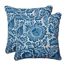 "Tucker Resist Azure 18.5"" Throw Pillow, Set of 2"