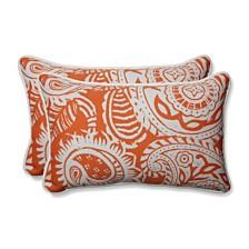 Addie Terra Cotta Rectangular Throw Pillow, Set of 2