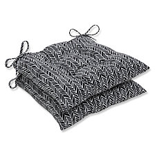 Herringbone Night Wrought Iron Seat Cushion, Set of 2