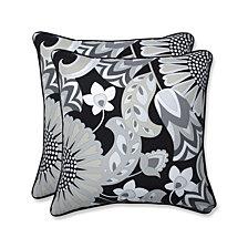 """Sophia Graphite 18.5"""" Throw Pillow, Set of 2"""