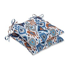 Paso Azure Wrought Iron Seat Cushion, Set of 2