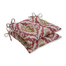 Ubud Coral Wrought Iron Seat Cushion, Set of 2