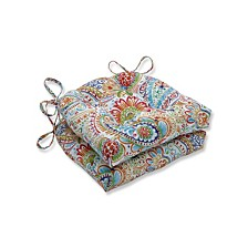 Gilford Festival Reversible Chair Pad, Set of 2