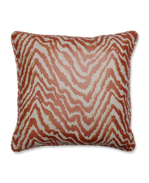 "Pillow Perfect Sleek Spice 16.5"" Throw Pillow"