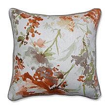 "Pretty Perennials Nude 16.5"" Throw Pillow"