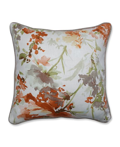 "Pillow Perfect Pretty Perennials Nude 16.5"" Throw Pillow"