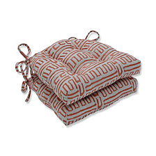 Primitive Sunset Reversible Chair Pad, Set of 2