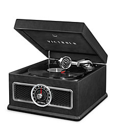 Victrola Madison 5-in-1 Nostalgic Bluetooth Record Player with CD, Radio, Record Storage and 3-Speed Turntable