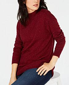 Karen Scott Seamed-Front Sweater, Created for Macy's