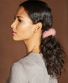 The Fur Vault Mink Fur Hair Tie