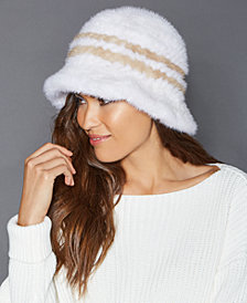 The Fur Vault Knitted Mink Fur Hat