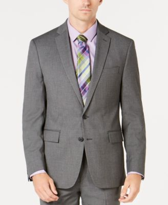 Men's Ultimate Moves Modern-Fit Stretch Black/White Birdseye Suit Jacket, Created for Macy's