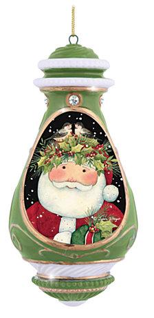 Precious Moments Festive Santa Ornament