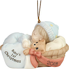 Precious Moments Baby Boy First Christmas 2018 Dated Ornament