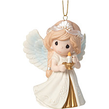 Precious Moments 8th Annual Angel Series He Is the Light Ornament