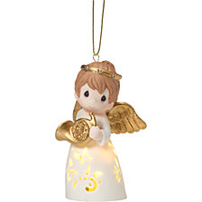 Precious Moments A Christmas Song Stays In My Heart Lighted Angel Ornament