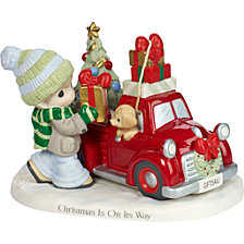 Precious Moments Christmas Is On Its Way Figurine