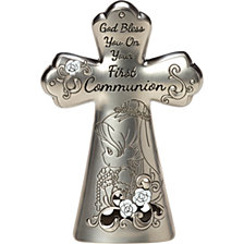 First Communion Mini Tabletop Cross, Girl