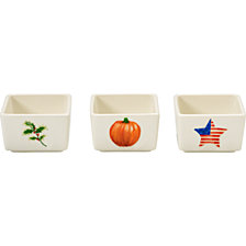 Celebrations by Holiday Dip Bowls 3-Piece Set