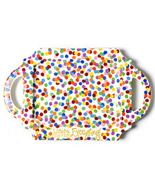 Coton Colors Happy Everything!™ Collection Toss Handled Traditional Tray