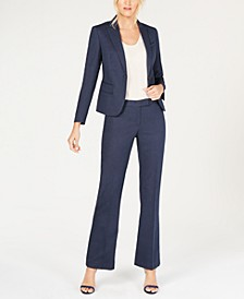 Denim One-Button Pantsuit