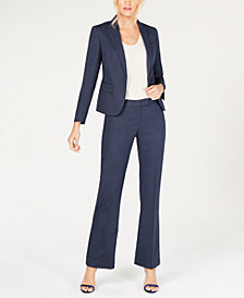 Anne Klein One-Button Pantsuit